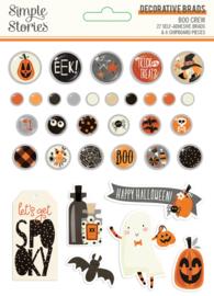 Simple Stories - Boo Crew decorative brads