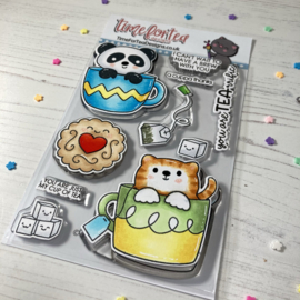 Time for Tea - Tearrific Pals clear stamps