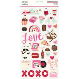 Simple Stories - Sweet Talk chipboard stickers