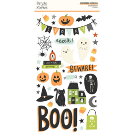 Simple Stories -Spooky Nights chipboard stickers