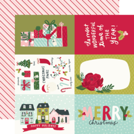 """Simple Stories - Holly Days 4x6 Elements Double Sided 12x12"""""""