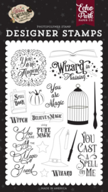 Echo Park Witches and Wizards 2 You Are Magic stamp set