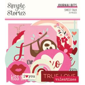 Simple Stories - Sweet Talk journal bits