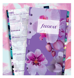 A5 Dated Illustrated Floral week on 2 pages 2022 Inserts