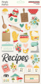 Simple Stories - Apron Strings chipboard stickers