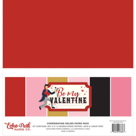 Echo Park Be My Valentine 12x12 Coordinating Solids Paper Pack