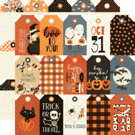 Simple Stories - Boo Crew Tags Double Sided 12x12""
