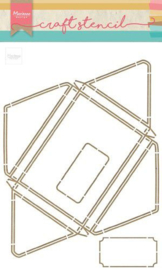 Marianne Design - Stencil A4 Envelop 210x320 cm