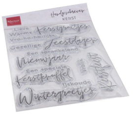 Marianne Design - Clear Stamps Handgeschreven Kerst (NL)