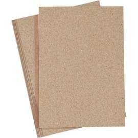 Cardstock 10 vellen - Kraft 220 gram