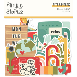 Simple Stories - Hello Today bits & pieces