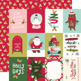 """Simple Stories - Holly Days 3x4 Elements Double Sided 12x12"""""""