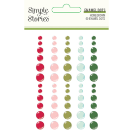 Simple Stories - Holly Days enamel dots