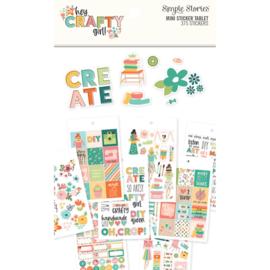 Simple Stories/Carpe Diem Hey Crafty Girl Mini Sticker Tablet
