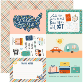 """Simple Stories - Save Travels 4x6 Elements Double Sided 12x12"""""""