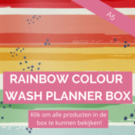Rainbow Colour Wash A5 planner box
