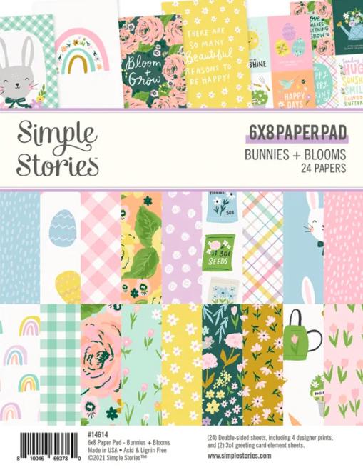 Simple Stories - Bunnies & Blooms 6x8 paper pad