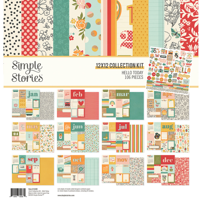 Simple Stories - Hello Today 12x12 collection kit