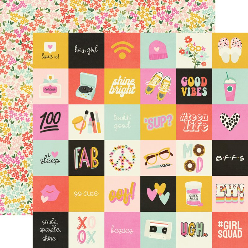 """Simple Stories - Kate & Ash 2x2 elements Double Sided 12x12"""""""