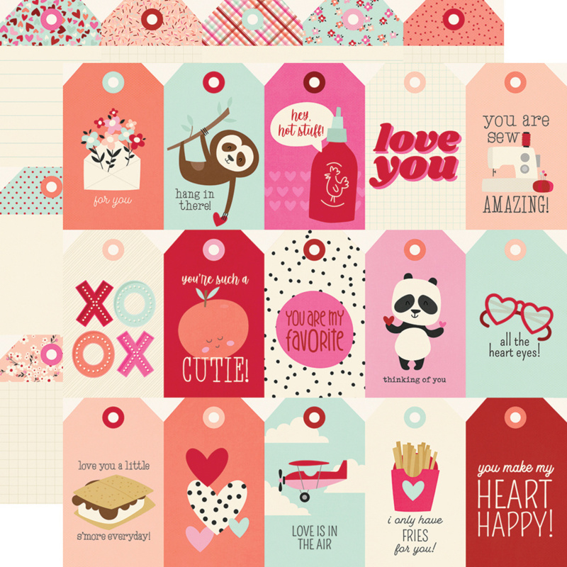 """Simple Stories - Sweet Talk Tags double sides 12x12"""""""