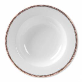 Soup Plate Floral White 21,5 cm