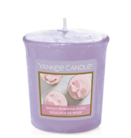 Sweet Morning Rose votive