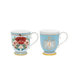 Set/2 Mugs Big Rose & Ornament