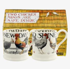 Rise &  Shine 2x mug 1/2 pint