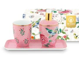 Badkamerset 3 delig Good Morning Pink