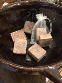 Amberblokje in voile zakje