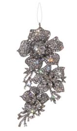 Hanger met bloemen bezet met kristalglas 11,5 cm