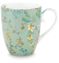 Jolie Flowers Blue mug large 350ml