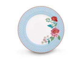 Plate Rose Blue 26,5 cm