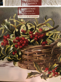 Holly and mistletoe basket
