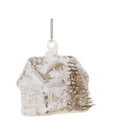 Glazen huisje met boompje 6 cm