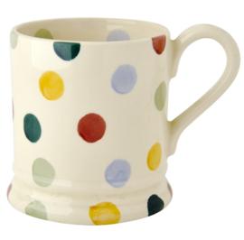Polka Dots mug 1/2 pint