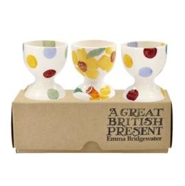 Daffodils/Polkadots set van 3 eierdopjes