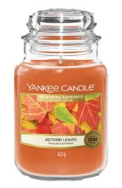 Autumn Leaves large jar