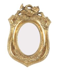 Fotolijst trompet 9x6  cm goud