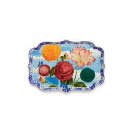 Tray Royal flowers 26 x17,5 cm