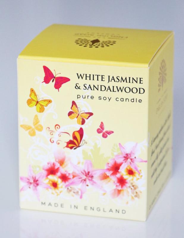 White Jasmin & Sandalwood geurkaars 170 gr