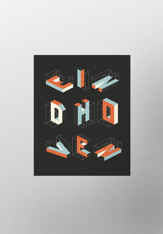 Eindhoven typo poster