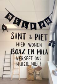 HERBRUIKBARE RAAMSTICKER | Welkom Sint & Piet