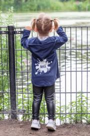 Vestje met cappuchon | Naam in splash
