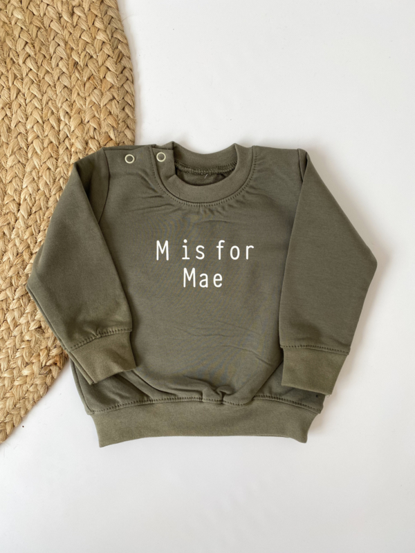 Sweater   (letter) is for ....
