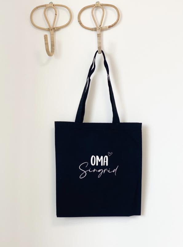 Katoenen tas premium   Oma (naam)