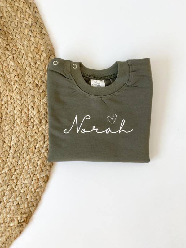 Sweater | Naam met hartje