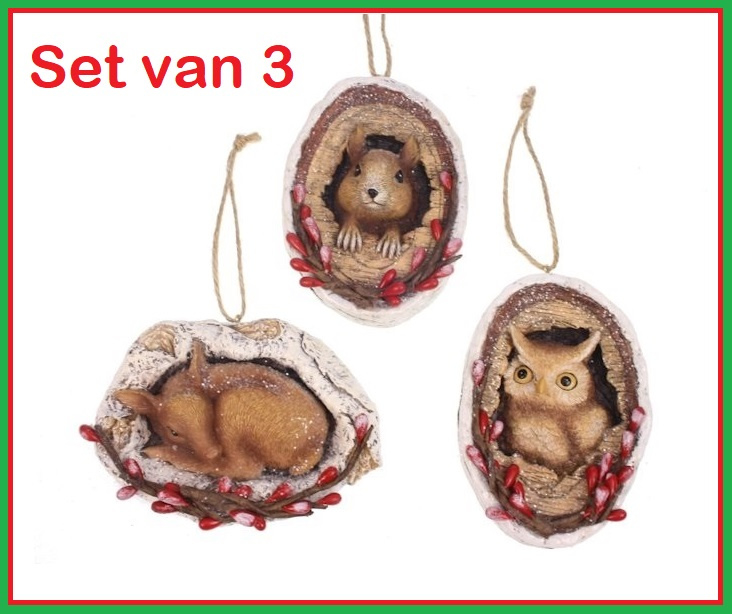 Xmas Forest Animals Set of 3