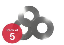 Zodiac / Videojet  Silver rewinder disc /  5 stuks in zak
