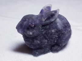 Urn konijn 7.5 x 5.5  cm met Amethist